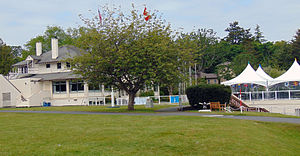 Royal Victoria Yacht Club - The clubhouse at the Royal Victoria Yacht Club.