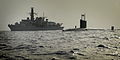 Royal Navy Submarine HMS Turbulent with Type 23 Frigate HMS St Albans MOD 45153518.jpg