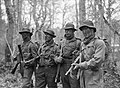 Royal Navy trainees at the Eastern Warfare School at Brockenhurst, Hampshire, where they learn jungle tactics for the Pacific War, 2 February 1945. A27307.jpg