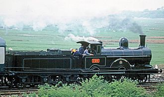 LNWR Improved Precedent Class - No. 790 Hardwicke hauling a passenger train from Carnforth to Grange-over-Sands in May 1976