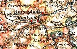Strecke der Bahnstrecke Rudolstadt-Schwarza–Bad Blankenburg