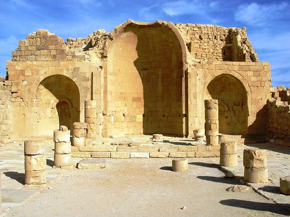 Ruins of a church in Shivta in the Negev