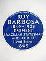Ruy Barbosa 1849-1923 Eminent Brazilian statesman and jurist lived here 1895.jpg
