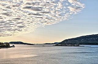 Stjørnfjord fjord in Trøndelag, Norway