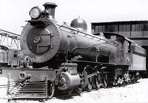 South African Class 4 4-8-2 - SAR Class 4 no. 1478 at Worcester, c. 1930