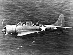 SBD-3 from USS Wasp (CV-7) in flight near Guadalcanal 1942.jpg