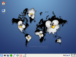 Screenshot di SLAX 6.0.7 Standard Edition con KDE