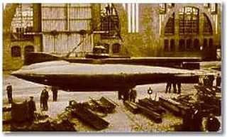 Russian submarine <i>Forel</i> 1902 U-boat with electric propulsion