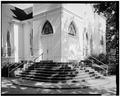 SOUTHEAST MAIN ENTRY AND STOOP - Plains Baptist Church, Bond and Paschal Streets, Plains, Sumter County, GA HABS GA,131-PLAIN,14-2.tif