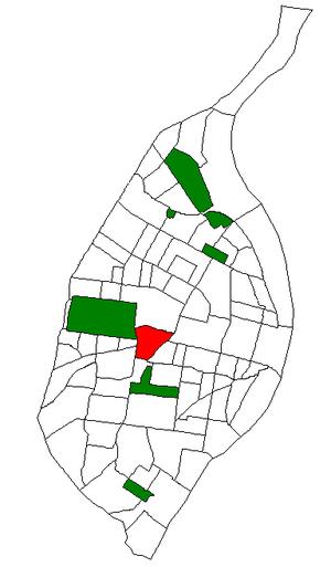 Forest Park Southeast, St. Louis - Image: STL Neighborhood Map 39