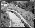 STONE BENCH ON TILE PATH - Woodhills, Prospect Road, Cupertino, Santa Clara County, CA HABS CAL,43-CUP,1-9.tif