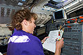 STS-131 flight day two activities Metcalf-Lindenburger.jpg