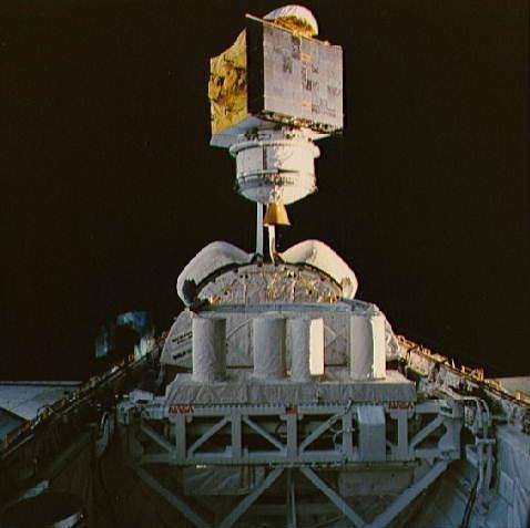 STS-61-C SATCOM Ku-1 deployment