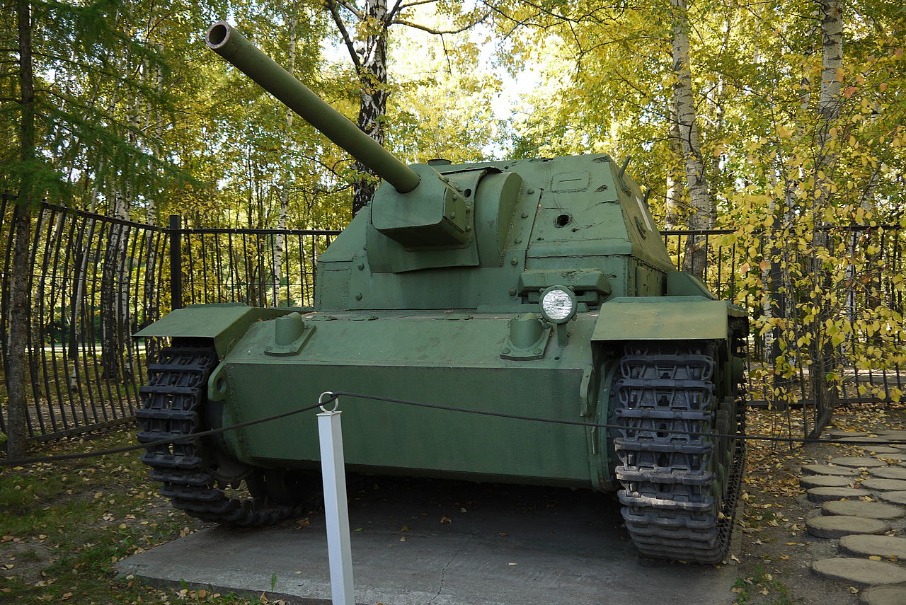 German 50 Mm Anti Tank Gun: File:SU76i Moscow, Poklonnaya Hill 3.JPG