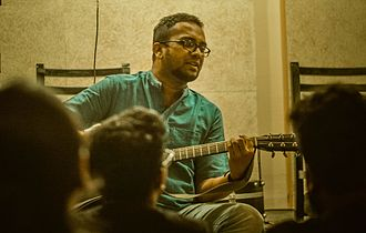 Sachin Warrier - Image: Sachin during a performance at The Bartender, Bangalore