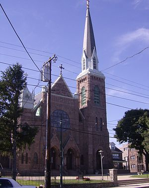 Holmesburg, Philadelphia - Saint Dominic Roman Catholic Church, on Frankford Avenue, was established in 1849