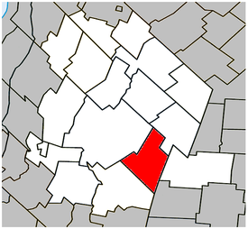 Location within Les Maskoutains Regional County Municipality.