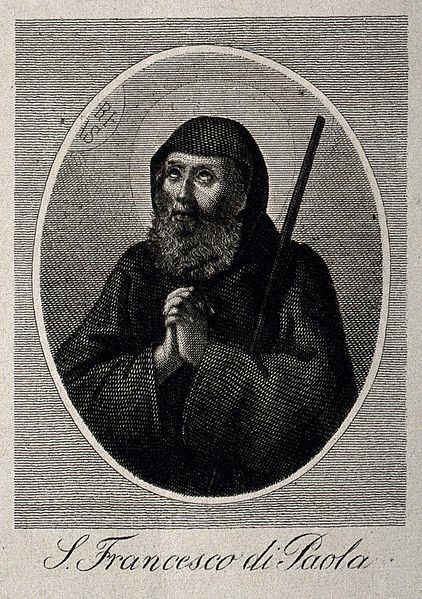 File:Saint Francis of Paola praying; head and shoulders. Etching Wellcome V0031957.jpg