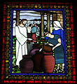 Saint Matthew the Apostle Church (Gahanna, Ohio) - stained glass, the Annunciation - detail, Marriage at Cana.JPG