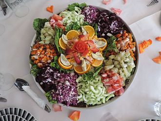 Moroccan cuisine - Salad asorti, served in Beni Mellal