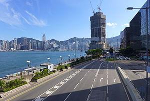 Salisbury Road, Hong Kong - Image: Salisbury Road in ETST 201508