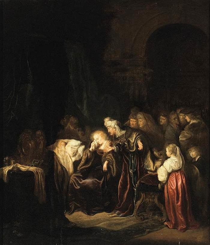 Salomon Koninck - David and Batsheba Mourning over Their Dead Son - WGA12248