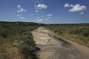 Salt Fork Brazos River - Salty bed of an often dry Salt Fork.