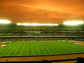 Mohun Bagan A.C. - Mohun Bagan playing against Bayern Munich in 2008 at the Salt Lake Stadium