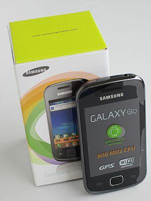 English: Samsung Galaxy Gio (GT-S5660) Svenska...