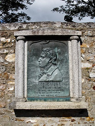 Samuel Taylor Coleridge - Plaque commemorating Coleridge at St Mary's Church, Ottery St Mary