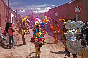 Fiesta popular in San Pedro de Atacama