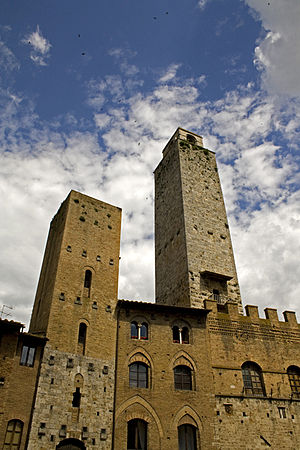 San Gimignano - Towers in San Gimignano