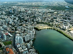 Santurce, San Juan, Puerto Rico - Aerial view of Santurce