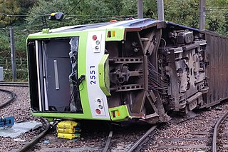 2016 Croydon tram derailment November 2016 fatal derailment in south London