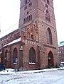 Sankt Petri kyrka, Malmö, tower, entrance.jpg