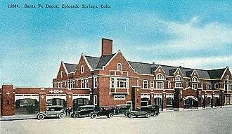 National Register of Historic Places listings in El Paso County, Colorado - Image: Santa Fe Depot Colorado Springs, Colorado