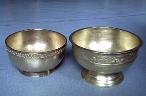 Banjar people - Sasanggan, a bronze bowl used by the Banjarese during a traditional ceremony.