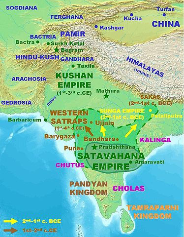 Satavahana Kingdom. Image via Wikipedia