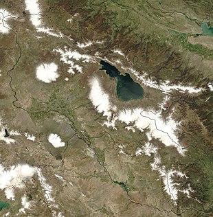 Immagine da satellite dell'Armenia occidentale (foto NASA, USA)