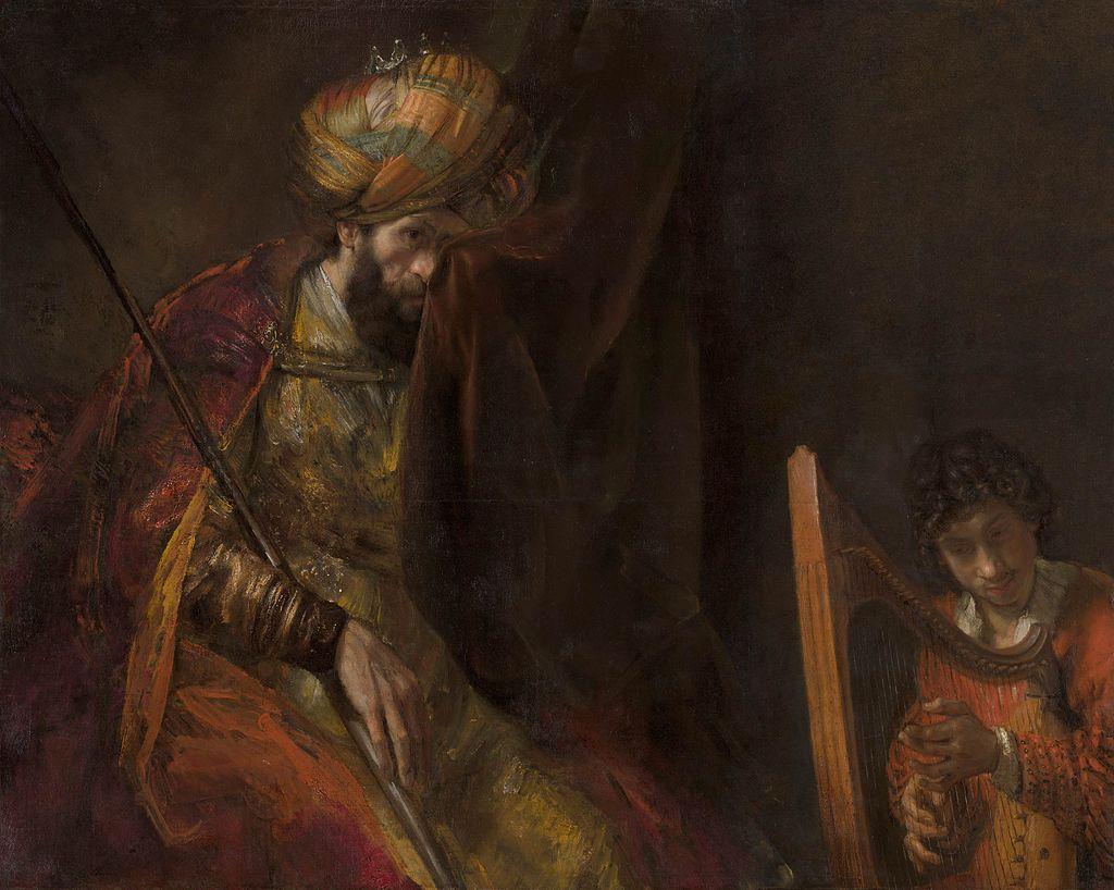 사울과 다윗 (렘브란트, Rembrandt, 1650~1670년)