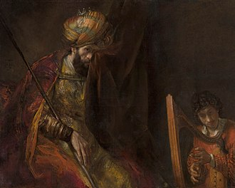 Saul - David Plays the Harp for Saul, by Rembrandt van Rijn, c. 1650 and 1670.