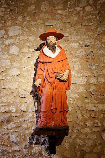 Statue de saint Cénéré située dans l'église Saint-Pierre de Saulges.