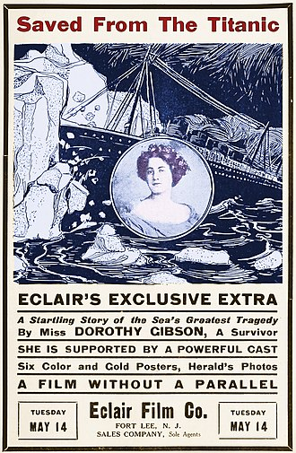 Saved from the Titanic - Poster for film