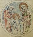Sbs-0008 029r Maria und Joseph führen Jesus heim.TIF