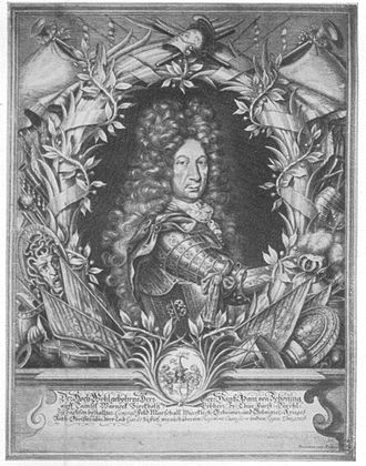 Hans Adam von Schöning - Hans Adam von Schöning, copper engraving by August Christian Fleischmann