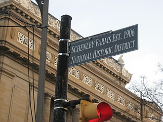 Schenley Farms Historic District - Historical marker for Schenley Farms