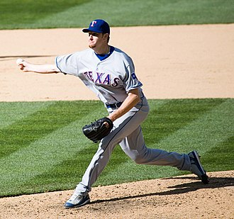 Sidearm - Scott Feldman throws a sidearm pitch.