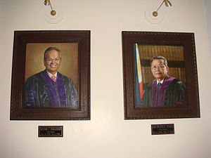 Reynato Puno - Official Portraits of CJ Artemio Panganiban and Reynato S. Puno in the new SC building.