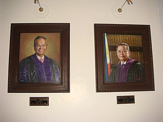 Artemio Panganiban - Official portraits of CJ Artemio Panganiban and Reynato S. Puno in the new SC building.