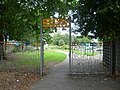 Sculptured entrance to Beaversfield Park in Hounslow - Geograph 2558082.jpg